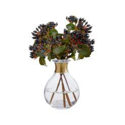 Vase mit Messingring von Nordal, unten bauchig
