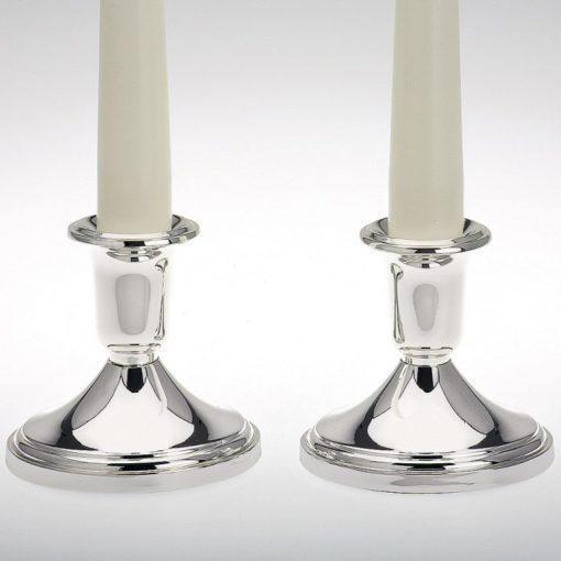 Kerzenständer versilbert, Paar