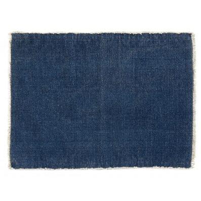 Tischsets in Blau von Nordal, grobe Baumwolle, waschbar