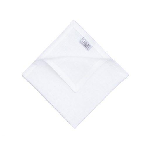 Servietten aus Leinen in Weiß