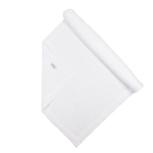 Tischläufer aus Leinen in Weiß