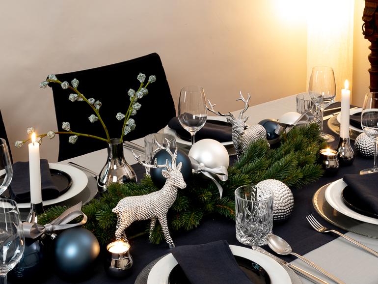 Weihnachtsdeko In Silber Und Weiß.Weihnachtskugeln In Blau Und Weiß 3 Farbig Sortiert 10 Cm 6 Stück