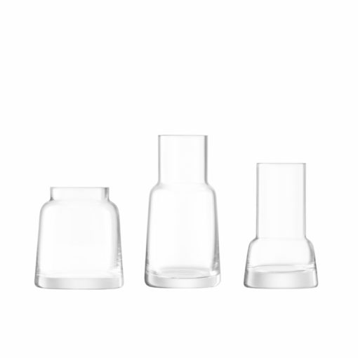 Mini Vasen-Trio Chimney von LSA, Glas, klar