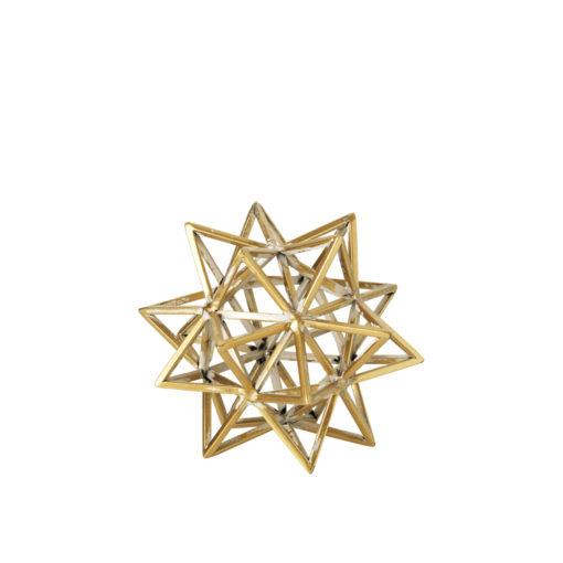 Deko-Stern in Antik-Gold von Broste Copenhagen, Höhe 16,5 cm