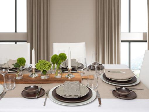 Tischdeko, Servietten, Tischläufer und Tischdecke zu Rosenthal Junto Geschirr