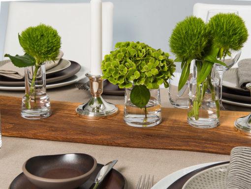 Tischdeko und Tischwäsche mit Rosenthal Junto Geschirr