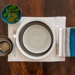 Tischsets und Servietten aus Leinen zu Rosenthal Junto Geschirr