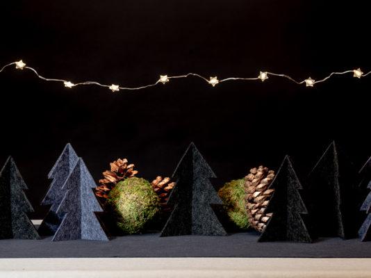 Filztannenbäume, DIY Weihnachten