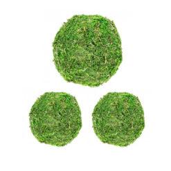 Mooskugeln, 3 Stück, 2 x 10 und 1 x 15 cm