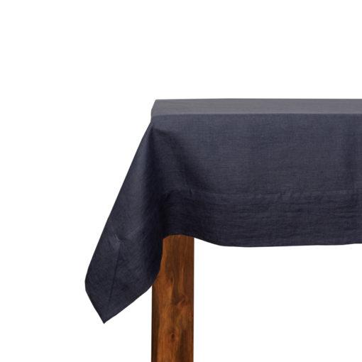 Tischdecke aus Leinen in Anthrazit, soft-washed