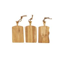 Schneidebretter Holz, Eiche, Laura Living, Griff, 45 cm