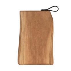 Schneidebretter Holz, Eiche, Lederschlaufe, Laura Living, 40x25 cm