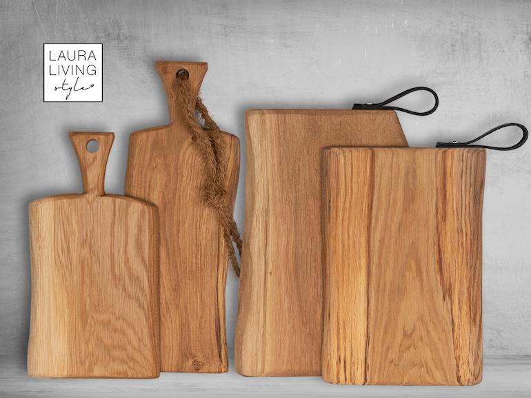 Schneidebretter Holz, Eiche, Laura Living