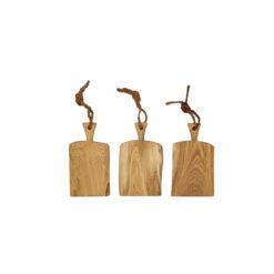Schneidebretter Holz, Eiche, Laura Living, Griff, 37 cm