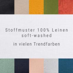 Stoffmuster Leinen viele Trendfarben soft-washed