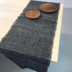 Original Home Tischläufer Schwarz, Baumwolle handgewebt, nachhaltige Produkte