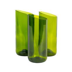 Original Home Vase, Grün, Weinflaschen recycelt, Fair Trade, nachhaltige Produkte