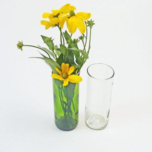 Original Home Vase, Grün und Klar, Weinflaschen recycelt, Fair Trade, nachhaltige Produkte
