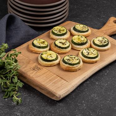 Zucchini Blätterteigplätzchen Fingerfood, Rezept