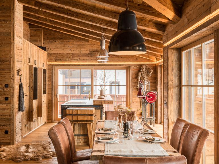 Osterdeko und Tischdeko Alpenchalet