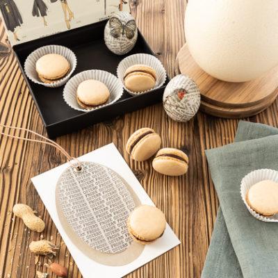 Erdnuss-Macarons mit Schoko-Salzkaramell-Ganache
