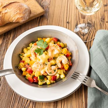 Scampi Gröstl, Vorspeise, Österreichische Küche