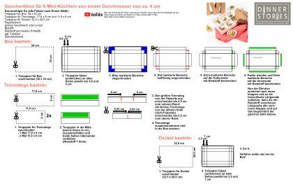Anleitung DIY Geschenkbox für Mini-Küchlein Love Cakes