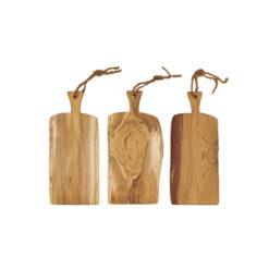 Schneidebretter Holz, Eiche, Laura Living, Griff, 54 cm