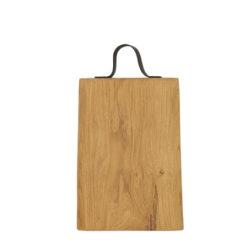 Schneidebretter Holz, Eiche, Ledergriff, Laura Living, 35x25 cm