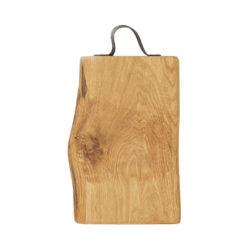 Schneidebretter Holz, Eiche, Ledergriff, Laura Living, 40x25 cm