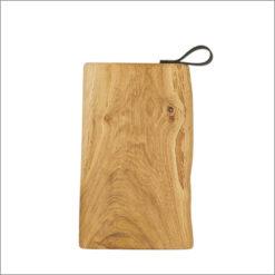 Schneidebretter Holz, Eiche, Lederschlaufe, Laura Living, 35x20 cm
