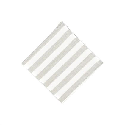Servietten aus Leinen der Marke DINNER STORIES soft-washed in der Farbe Greige-Offwhite gestreift online zu bestellen