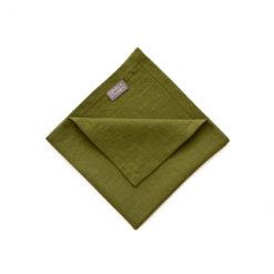 Servietten aus Leinen der Marke DINNER STORIES soft-washed in der Farbe Moosgrün online zu bestellen