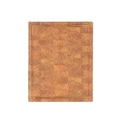 Butcher Block, Hackblock mit Saftrinne, Eichenholz, lebensmittelecht, geleimt aus Blöcken, 50x40x5,5 cm, von Laura Living Style