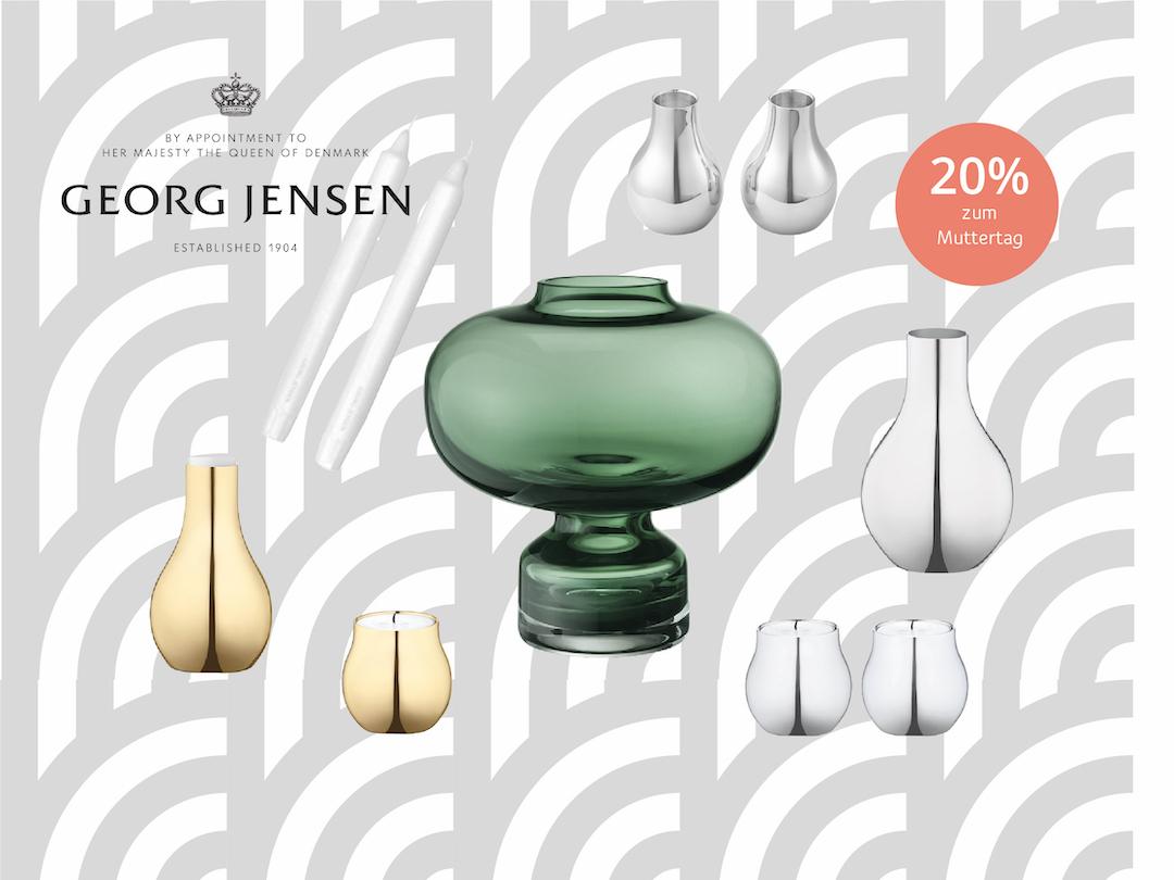 Georg Jensen Produkte im Sale zum Muttertag, 20% günstiger