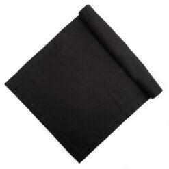 Tischläufer aus Leinen in Schwarz