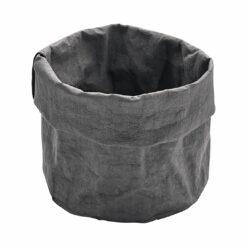 Brot-Paperbag Anthrazit, 18 cm, 100% nachhaltig, waschbar