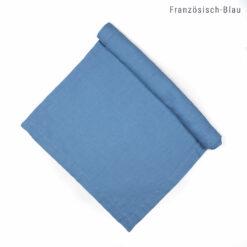 Tischläufer aus Leinen nach Maß in Französisch-Blau