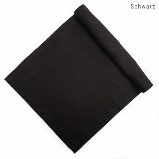 Tischläufer aus Leinen nach Maß in Schwarz