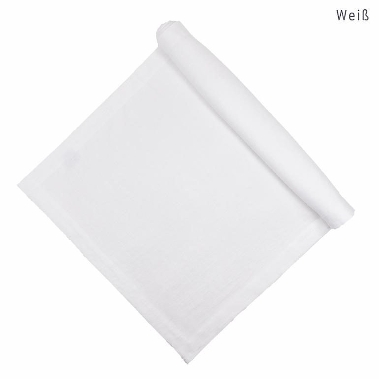 Tischläufer aus Leinen nach Maß in Weiß