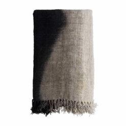 Decke aus handgewebter, recycelter Baumwolle Gradient Schwarz